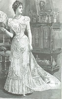 """1893 Evening Gown Sewing Pattern for a 24"""" Doll Lady Marion & Other Dolls #94-24"""