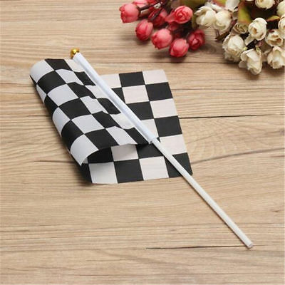 2~50PCS Mini Black White Chequered Racing Hand Waving Flag Party Supply Sports