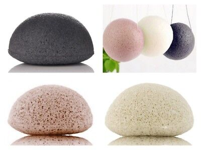 Japanese Konjac Sponges Bath Shower Face Body 100% Natural Cleansing
