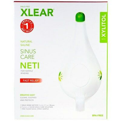 Sinus Neti Pot Care Rinse Xlear - 6 Pack Solution, 1 Free Spray UK FAST & FREE