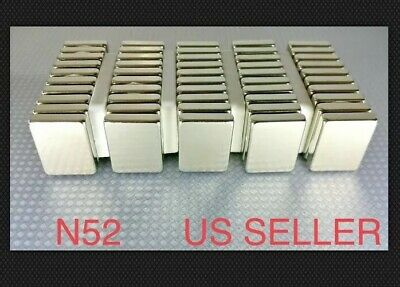 """5-100 NEODYMIUM magnets 1-1//2/""""×1//4/""""×1//8/"""" Strong Rare Earth magnets N52 Grade"""