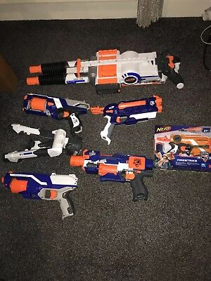 35 Nerf Guns Job Lot with nerf vest,mask bullets please read description first