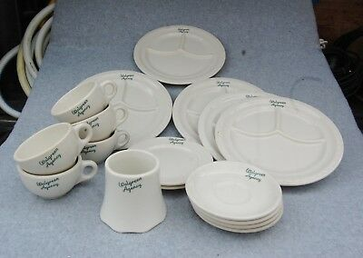Walgreens Agency Dish lot 17 Divided Plate Cup Saucer Sugar Bowl Syracuse China