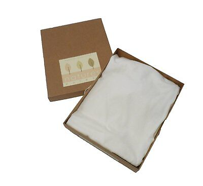 Natures Purest Organically Grown Jersey Cotton Cream Fitted Moses Basket  (7043)