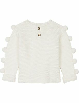 Natures purest Cream Pom Pom Knits Organic Cotton Jumper - 0-3 Months   (0254A)