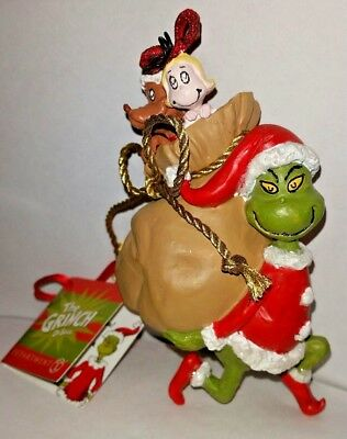 New Department 56 Grinch Santy Claus Stowaways Ornament Merry Grinchmas
