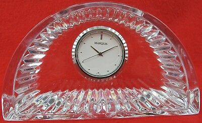 Marquise By Waterford Crystal Crescent Desk Clock Germany