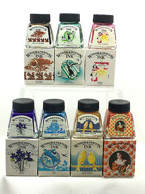 7 - WINSOR & NEWTON 14 ml INK - THE HENRY COLLECTION (NO BLACK) - ORIGINAL BOXES