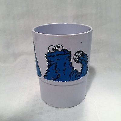 "Vintage Cookie Monster Sesame Street Plastic Cup 4"" Tall 3"" Wide 1977"