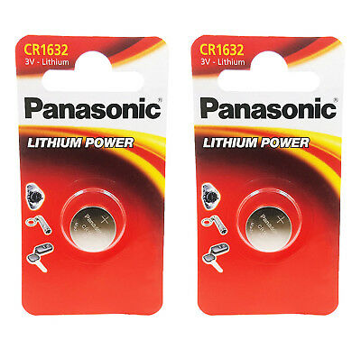 2 x Panasonic 1632 DL1632 CR1632 ECR1632 3v Batteries Coin Cell Long Expiry Date