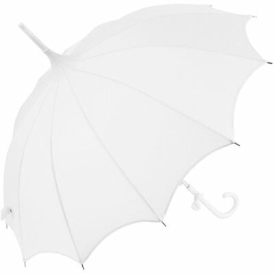 Ladies Umbrella White Wedding Bridal Pagoda Parasol