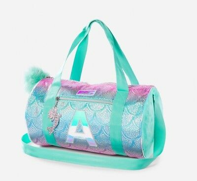"Nwt Justice Initial Mermaid Duffle Bag "" T"""