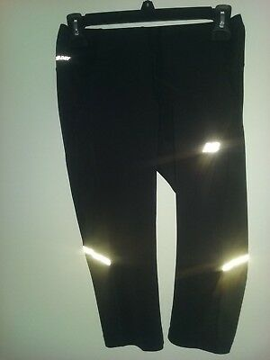 NB DRY 1/2 length black tights silver feature Size XS