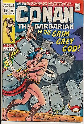 Conan the Barbarian #3 Marvel Comics 1971 Low Distribution, Barry Smith Art