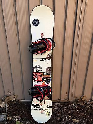 Academy Snowboard - 154cm - With Burton Bindings - Pick Up Brisbane -