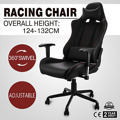 Racing Office Gaming Computer Chair PU Leather Conference 360°Swivel Adjustable