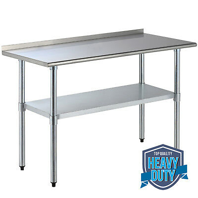 FTFT STAINLESS Steel Kitchen Restaurant Work Prep Table With - 5 ft stainless steel table