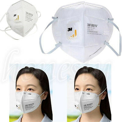 9001V 9002v 3M Dust Respirator Folding Protection Mask  Ear Head Hang PM2.5