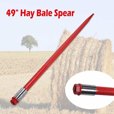 "49"" Square Hay Bale Spear Spike Fork 3000 lbs 1 3/4"" Wide w/ Nut Sleeve Conus 2"