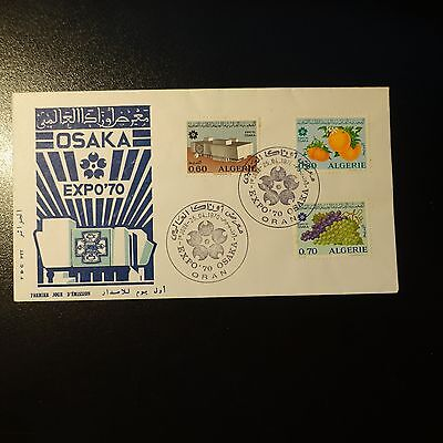 ALGERIA N°514/516 ON LETTER COVER 1st DAY FDC
