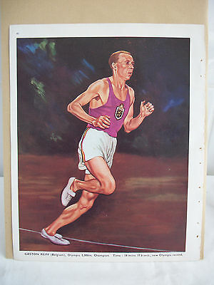 Gaston Reiff 1948 Olympic 5,000m Champion Bookplate