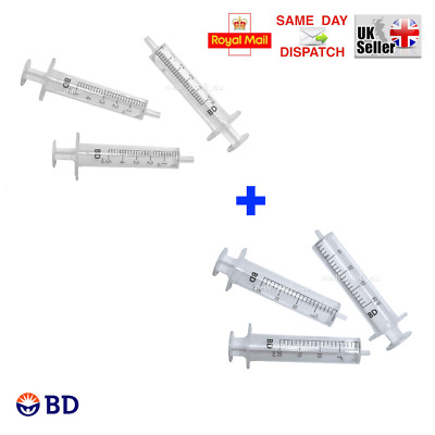 MIX OF: 5ml + 20ml BD SYRINGES, CHOICE OF QTY, INK REFILL CYCLE FAST SHIPP CHEAP