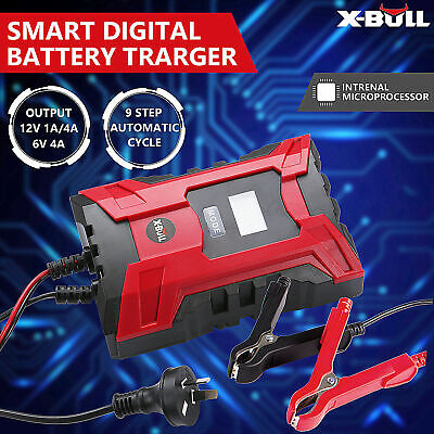 X-BULL Battery Charger Smater 12V/6V 4A Digital Automatic Maintainer Deep Cycle