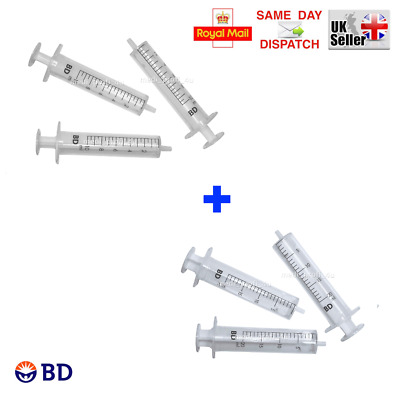 MIX & QTY - > 10ml + 20ml BD SYRINGES INK REFILL DISPENSING CYCLE FAST CHEAPEST