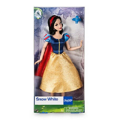New Official Disney Snow White & The Seven Dwarfs 33cm Classic Doll With Bluebir