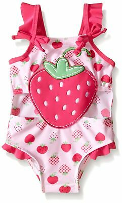 SOL Swim Baby Girls' Gingham Patch Connector Swimsuit Pink 12 Months New
