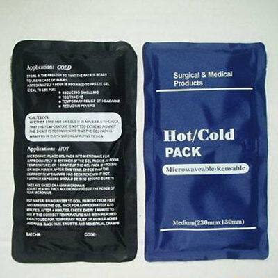 Reusable Hot / Cold Heat Gel Ice Pack Sports Muscle / Back Aches Pain Relief