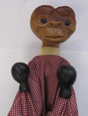 Vintage Boxing Et E.t Puppet Figure Toy Fighting Punching Gloves 1970-80's