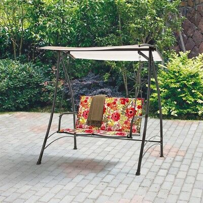 Canopy Padded Swing 2 Person Outdoor Glider Patio Backyard Furniture Fl