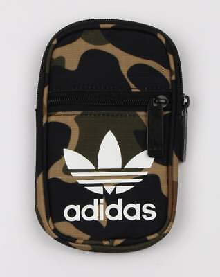 50a30745fab8 Adidas Pouch Bag in Camo Print Green trefoil mini bag festival bag holiday  SALE