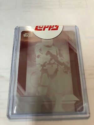 Star Wars The Last Jedi Magenta Printing Plate First Order Flame Base Card #14
