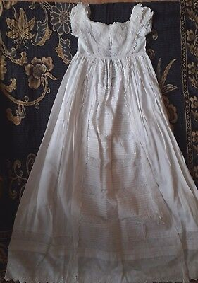Victorian Baby Lace Christening Gown Reborn Doll