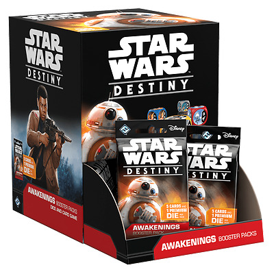 Star Wars Destiny Awakenings Booster Box Brand New dice rare