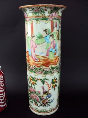 Beautiful 25cm Chinese Porcelain 19thC Oriental Antiques Famille Rose Vases