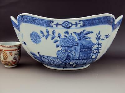 STUNNING Chinese 18thC Porcelain Oriental Antiques Blue and White Enamel Bowl