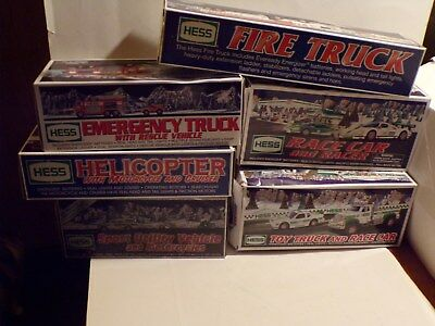 Lot Of Six (6) Hess Trucks In Original Boxes