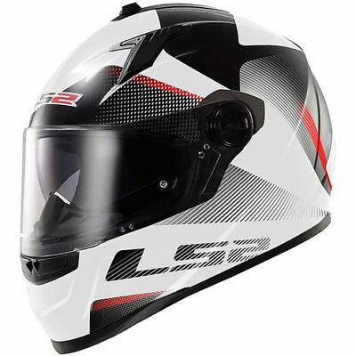 LS2 FF322 Concept Tyrell White/Black Motorcycle full face Helmet Size XS  &  XL