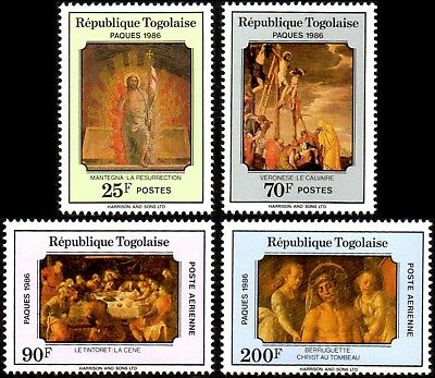 TOGO ** 1986 MiNr. 1939 - 1942 Ostern / Eastern / Paques - Gemälde / paintings