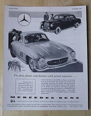 Mercedes-Benz  Vintage Advert November 1955