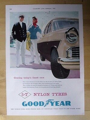 Good Year Tyres Original Vintage Advert 1961 Country Life Annual