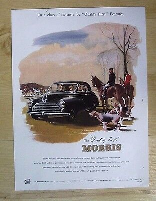 Morris Motors Ltd Of Cowley, Oxford Original 1951 Advert From Country Life Mag