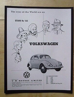 Volkswagen Vw Motors Limited Vintage Advert November 1955