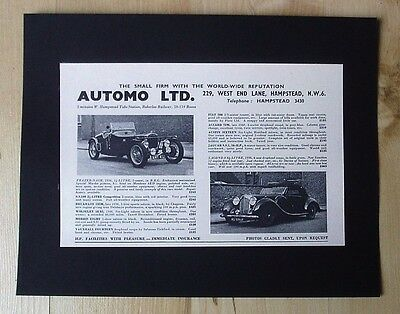 Frazer Nash And Lagonda  Original Vintage Advert August 1955