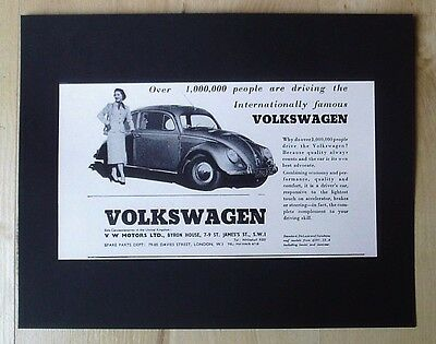 Volkswagen Vw Motors Ltd Beetle Original Vintage Advert September 1955