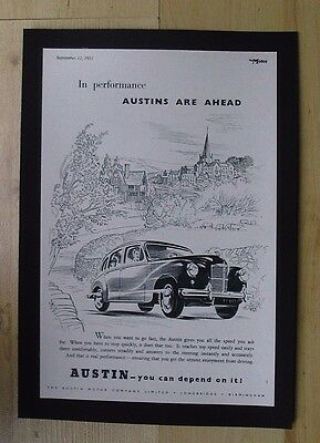 Austin Motor Company Original Vintage Advert From The Motor Magazine 1951