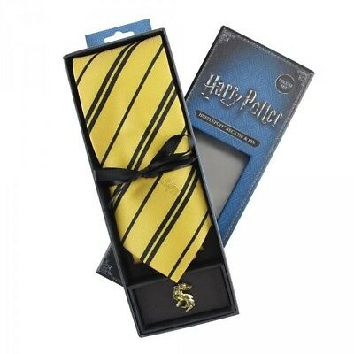Harry Potter coffret cravate et badge Hufflepuff necktie pin Deluxe Set 600669